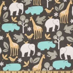 Michael Miller Baby Zoology Flannel Sea Fabric