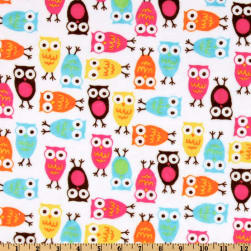 Shannon Kaufman Minky Cuddle Night Owls Carnival Fabric