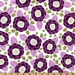 Aviary 2 Bloom Lilac Fabric