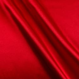 Bridal Satin Red Fabric