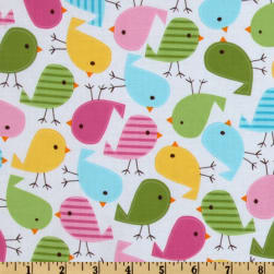 Urban Zoologie Birds Spring Fabric