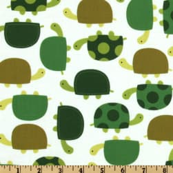 Urban Zoologie Turtles Grass Fabric