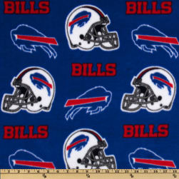 NFL Fleece Buffalo Bills Blue Fabric