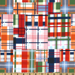 Michael Miller Going Coastal Collection Patchwork Plaid Multi Fabric