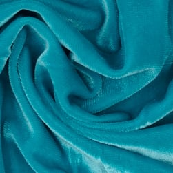 Stretch Velvet Knit Turquoise