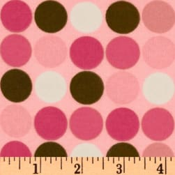 Cozy Cotton Flannel Dots Pink/Multi