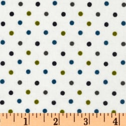 Cozy Cotton Flannel Mini Dot Marine Fabric