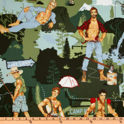 Pin Ups The Outdoorsy Type Green Fabric