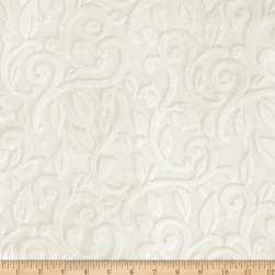 Shannon Minky Embossed Vine Cuddle Ivory Fabric