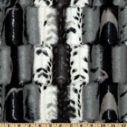 Shannon Minky Luxe Cuddle Fancy Leopard Black/Gray Fabric
