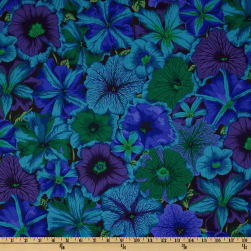 Kaffe Fassett Collective 2012 Petunias Blue