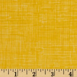 Timeless Treasures Sketch Flannel Yellow Fabric