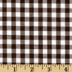 Wide Width 1/4'' Gingham Check Brown