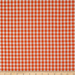 Wide Width 1/4'' Gingham Check Orange