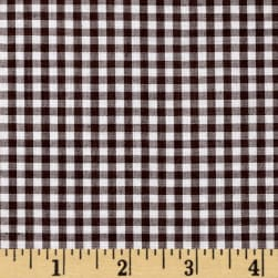 Wide Width 1/8'' Gingham Check Brown