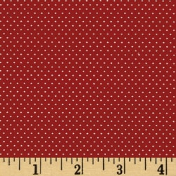 Pin Dot Strawberry Red