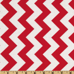 Riley Blake Chevron Medium Red