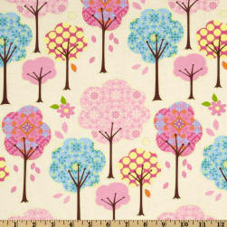 Pretty Little Things Trees Cream Fabric