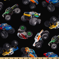 In Motion Monster Trucks Black