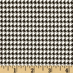 Comfy Flannel Houndstooth Black