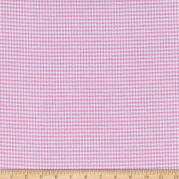 Comfy Flannel Houndstooth Pink Fabric