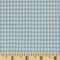 Comfy Flannel Houndstooth Blue Fabric