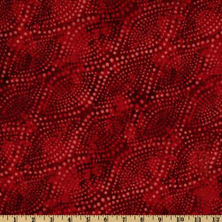 108'' Wide Diagonal Dots Quilt Backing Fire Red