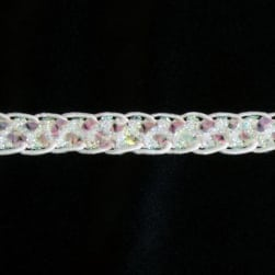 "1/2"" Sequin Braid Cord Trim Crystal Aurora Borealis"
