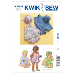 Kwik Sew Babies Sundress, Bloomers, Shortalls & Hats