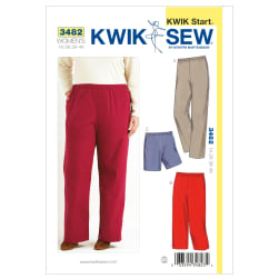 Kwik Sew Pull-On Pants & Shorts Plus Size Pattern