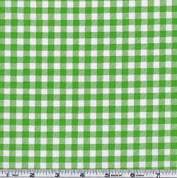Oil Cloth Gingham Kiwi Green Fabric