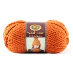 Lion Brand Wool-Ease Thick & Quick Yarn  (133) Pumpkin