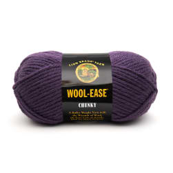 Lion Brand Wool-Ease Chunky Yarn (144) Eggplant