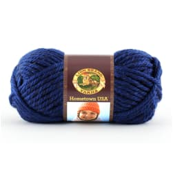Lion Brand Hometown USA Yarn (109) Fort Worth Blue