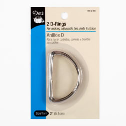 D-Rings Silver 2''