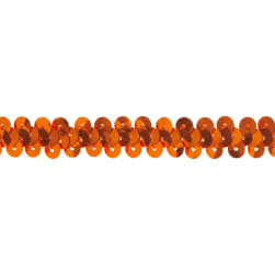 "3/8"" Stretch Metallic Sequin Trim Orange"