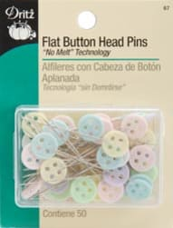 Dritz Flat Button Head Pins