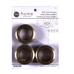Curtain Grommets 8 Pack Antique Gold 1 - 9/16''