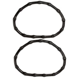 "Black Plastic Bamboo Purse Handle 5""X6"" Half Circle - 2PKG"