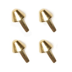 Gold 14mm Purse Feet 4/Pkg