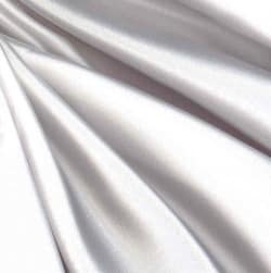 Debutante Stretch Satin Fabric Bright White