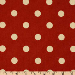 Premier Prints Indoor/Outdoor Polka Dot American Red Fabric