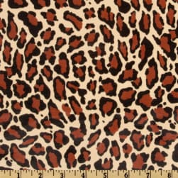 Oilcloth Jaguar Natural Brown Fabric