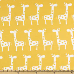 Premier Prints Gisella Slub White/ Yellow Fabric
