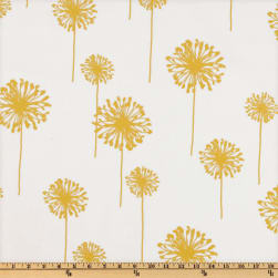 Premier Prints Dandelion Slub White/Yellow Fabric
