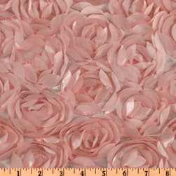 Loveable Satin Ribbon Rosette Pink Fabric
