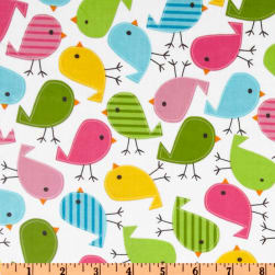 Urban Zoologie Slicker Laminated Cotton Chicks Garden Fabric
