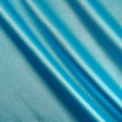 Telio Tahari Stretch Satin Turquoise Fabric