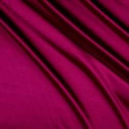 Silky Satin Charmeuse Solid Magenta Fabric