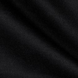 Kaufman Handkerchief Linen Blend Black Fabric